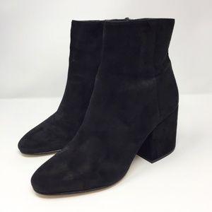 "Sam Edelman Suede 3"" Chunky Heel Booties Size 8.5"